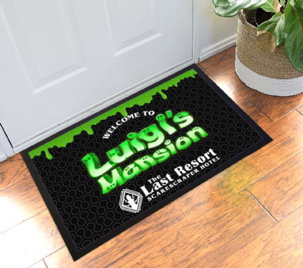 The Last Resort Hotel Welcome Mat Doormat Inspired by Luigi's Mansion 3